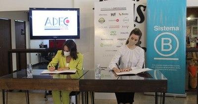 La Nación / Sistema B y ADEC firman convenio para beneficiar a empresas en Itapúa
