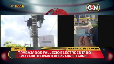 Hombre muere electrocutado mientras realizaba trabajos para la ANDE