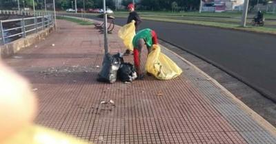 La Nación / Encarnación: la lucha constante por concienciar y evitar que la basura llegue al río