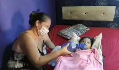 Milagros, la pequeña beba que necesitaba traslado ya está en la UTI del Hospital Nacional de Itauguá