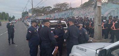Gran despliegue policial en zona de Acceso Sur tras víspera de inseguridad en Ñemby
