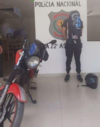 Adolescente de 15 años que debía cumplir prisión domiciliaria fue detenido tras presuntamente robar una moto