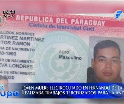 Joven muere electrocutado en Fernando de la Mora