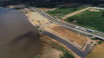 Obras del Parque Lineal de Asunción registran un 26% de avance