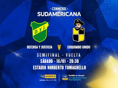 Defensa y Justicia y Coquimbo van por la final de la Sudamericana