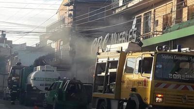 Fue sofocado principio de incendio en centro de San Lorenzo