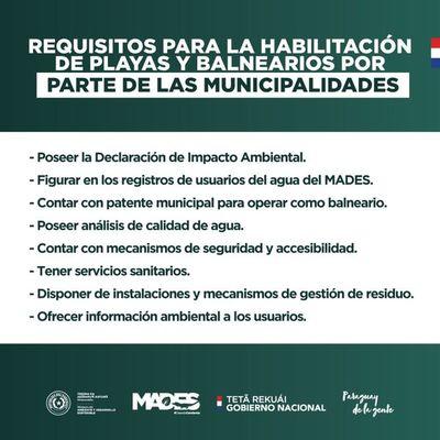Municipios deben exigir declaración de impacto ambiental antes de habilitar playas y balnearios
