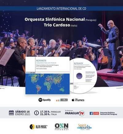 Invitan a participar de lanzamiento del álbum grabado por OSN y trío italiano
