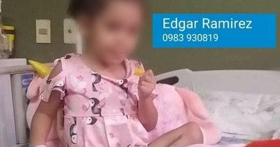 La Nación / Niña de tres años quedó huérfana y necesita ayuda para operarse