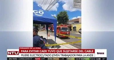 La Nación / Trabajador de firma contratada por la Ande falleció tras recibir descarga eléctrica