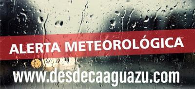 Meteorología advierte sobre tormentas y vientos de hasta 120 km/h