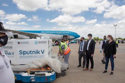 Argentina: llegaron 300.000 dosis más de la vacuna rusa Sputnik V