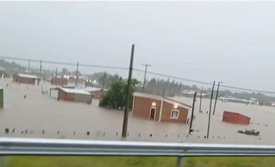 Intensas lluvias desatan inundación en Concepción