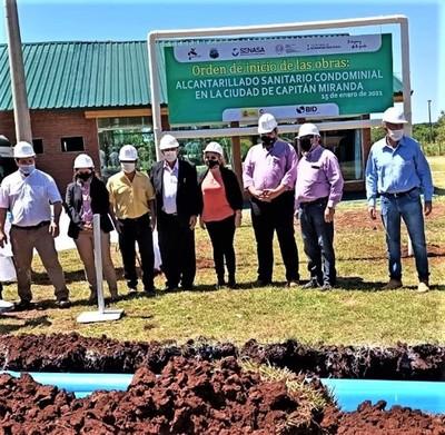 Construcción de alcantarillado sanitario beneficiará a 10.000 ciudadanos de Capitán Miranda