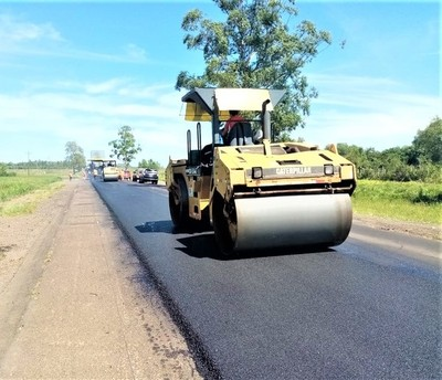 Continúan obras de mejoramiento en la ruta PY01 entre Misiones e Itapúa