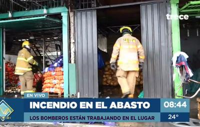 Incendio controlado en el Mercado de Abasto