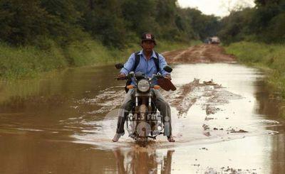 Denuncian mal estado de la ruta Bella Vista-Puentesinho