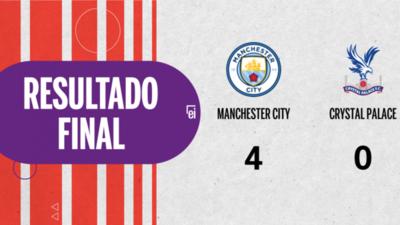 Doblete de John Stones en la goleada de Manchester City frente a Crystal Palace