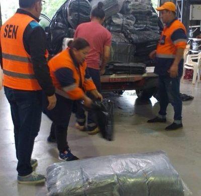 Concepción: SEN asiste a familias afectadas por la inundación