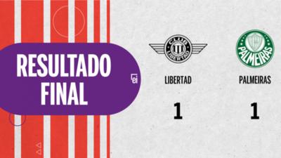 Empate a uno entre Libertad y Palmeiras