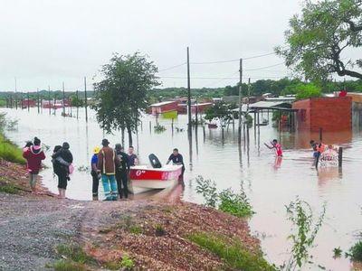 Casi toda Concepción se inundó tras la lluvia