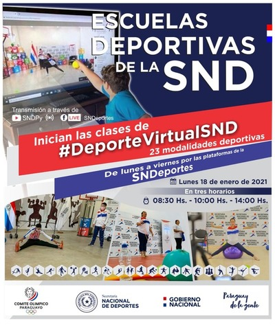 Desde este lunes reinician las clases virtuales de la Secretaría de Deportes