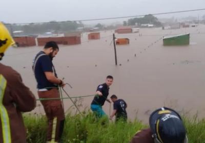 Municipalidad de Concepción habilita albergues y ollas populares tras inundación