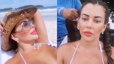 HOY / Marly Figueredo se relaja en exóticas playas mientras chicanea su proceso por lavado de dinero