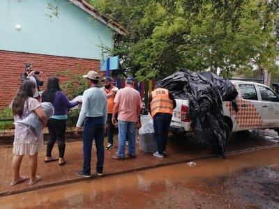 SEN provee alimentos y colchones a damnificados por inundación en Concepción