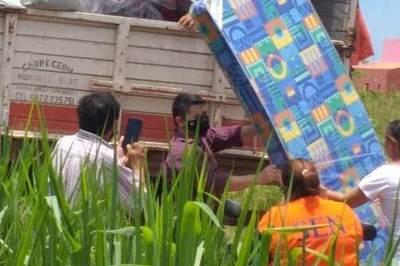 ¿Campaña con recursos del Estado?: precandidato colorado aparece «para la foto» durante asistencia de la SEN a damnificados
