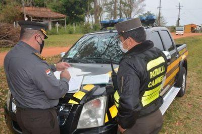 Patrulla Caminera: Casi 40 conductores multados por documentos vencidos