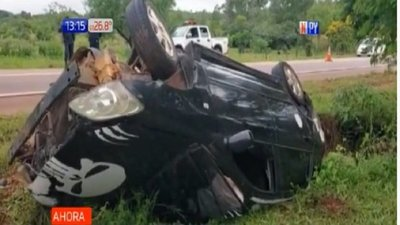 Quiindy: Conductores bajo efecto del alcohol protagonizan grave accidente