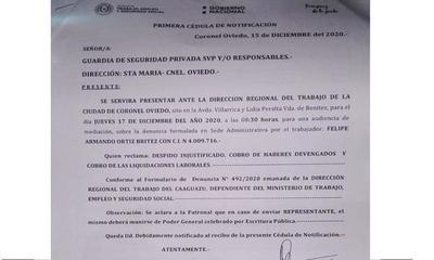 Denuncian a empresa por no pagar a funcionarios – Prensa 5