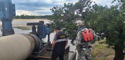 Fiscalizan bombeo de agua del río Tebicuary