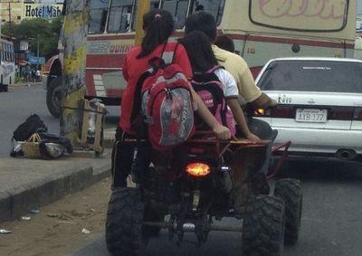 Caminera: Menores de edad no están autorizados a conducir cuaciclones