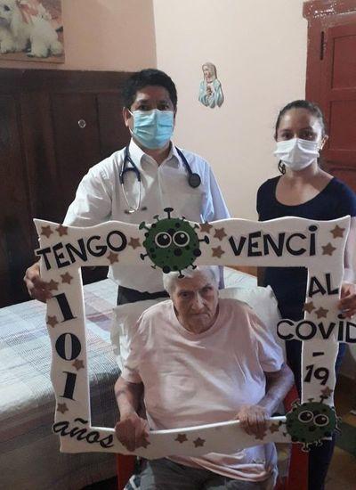 A los 101 años, docente villarriqueña superó el coronavirus