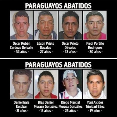 Armas halladas con paraguayos del PCC fueron usadas en otros crímenes
