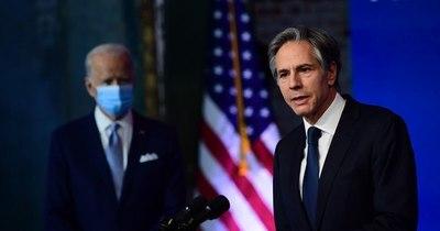 """La Nación / El secretario de Estado nominado por Biden promete un EEUU en """"primera línea"""" junto a sus aliados"""
