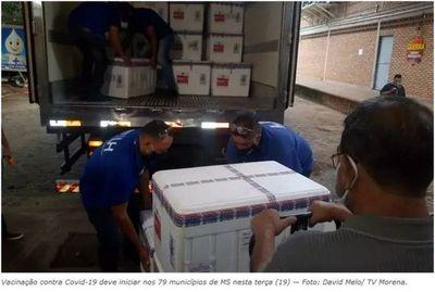 Mato Grosso do Sul recibe las primeras 158 mil dosis de vacuna