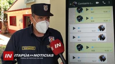 COMISARIO DENUNCIA USO DE SU IMAGEN POR EXTORSIONADORES.