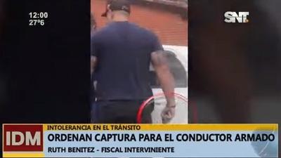 Identifican y ordenan captura de conductor que amenazó con arma de fuego