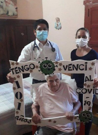 Villarrica: Jubilada de 101 años ganó la batalla contra el Covid-19