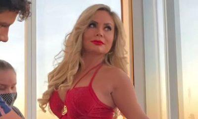 Dahiana en sexy backstage para grabar su videoclip