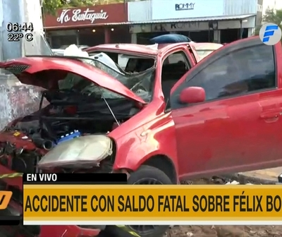 Accidente fatal en Félix Bogado
