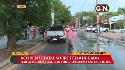 Accidente fatal sobre Félix Bogado