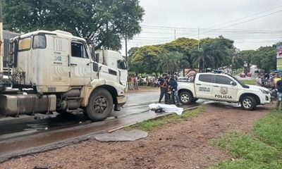 Motociclista muere tras ser chocado por un camión – Diario TNPRESS