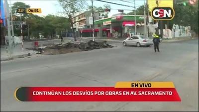 Avda Sacramento y España: Continúan los desvíos