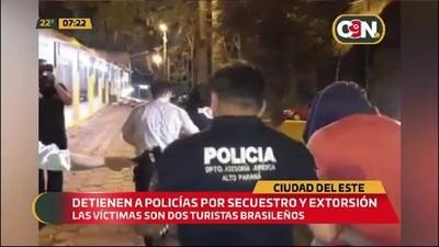 Cuatro policías detenidos por secuestro y extorsión
