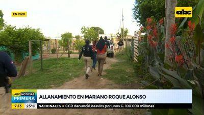 Allanamiento en Mariano Roque Alonso por un caso de pornografía infantil