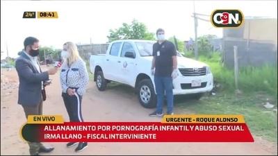 Mariano Roque Alonso: Allanamiento contra pornografía infantil